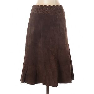 CAbi Skirts - Cabi Leather Suede Skirt